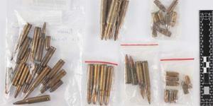 Ammunition. Bilder från polisens förundersökning.