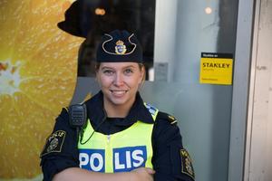 Polisassistenten Therese har varit på plats under Södertäljefestivalen.