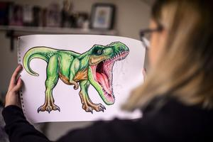 Drakar, dinosaurier och fantasyväsen har länge varit en favorit.