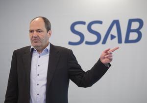 SSAB:s koncernchef Martin Lindqvist. Foto: Fredrik Sandberg  TT.