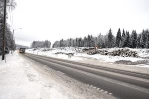 Arbetet med nya etappen mellan Timmervägen och Blåberget har startat. Avverkningen pågår fullt i området och medför störningar i trafiken.