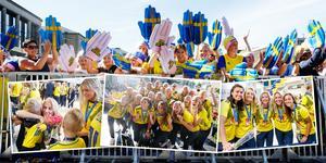 Det svenska landslaget hyllades under måndagskvällen i Göteborg.