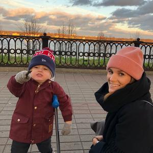 Malin Lander tillsammans med sonen Viggo, drygt 3,5 år.