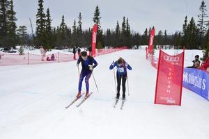 Karin och Anders Hermansson tar det sista taget över mållinjen.