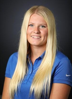 Isabelle Johansson, från Sala, har höga mål för sin golfkarriär. Bild: University of Kentucky