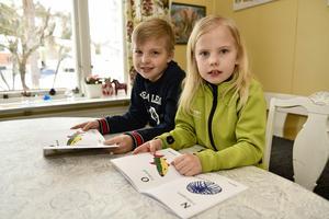 Karl 9 år och Vera 7 år Pell har illustrerat Övkallabised.