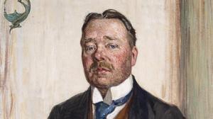 Del av Gerda Wallanders porträtt av Hjalmar Söderberg från 1916. Bild: Thielska galleriet