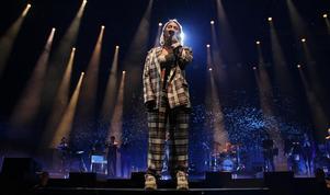 Molly Sandén  var en av de som uppträdde på årets vintergala. Foto: Fredrik Selgeryd
