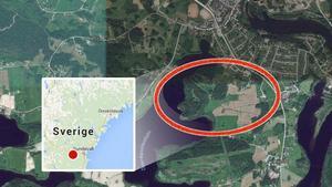 Stugan har börjat brinna på Uvberget i Matfors.