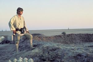 Luke Skywalker (Mark Hamill) personifierar hjältearketypen i George Lucas film