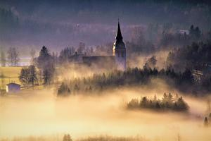 Dimma över Ullånger.