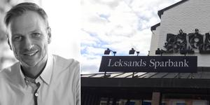 Björn Rinstad tar nu över som vd för Leksands sparbank.  Foto: Leksands Sparbank & Arkiv