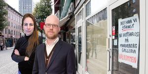 Sofia Gustafsson och Kristian Ekenberg om det nya stadsrummet där butikerna tvingas stänga igen.