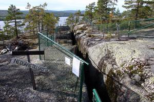 Nedgången till Skallbergsgrottorna. Foto: Peter Forssell/Arkiv
