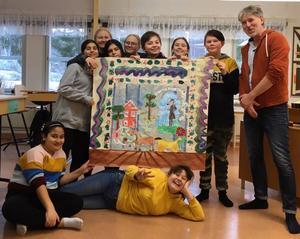 Bildklassen med vinnande bidraget i tävlingen. Foto: Helena Ehrstrand.