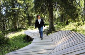 Yvonne Mutsaers, som tillsammans med sin man Peter driver Åkersjöns camping och skidanläggning i Åkersjön, satsar nu även på sommarturism med en Bike Park.