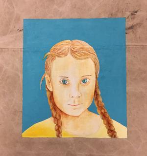 Greta målad av Mats Hermansson.