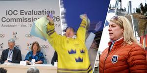 Marit Stub-Nybelius, medie- och kommunikationsansvarig för backhoppning i svenska skidförbundet tror att det kan delas ut två OS vid omröstningen i Lausanne Schweiz.