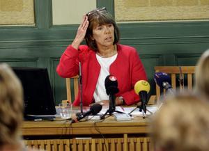 Barbro Holmberg (S) hade den inte helt angenäma uppgiften att hantera stormen kring apatiska barn 2005.  Foto Henrik Montgomery
