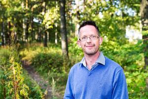 SD:s distriktsordförande Magnus Edman uttalar sig om Hallstahammar eftersom partiet saknar en kommunförening där. Foto: Rune Jensen/Arkiv