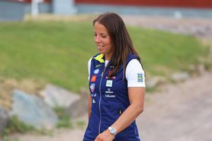 Charlotte Kalla är på plats i Torsby med resten av landslaget under säsongens andra träningsläger.