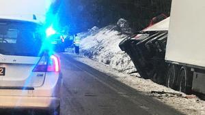 Trafikolycka mellan Hallstahammar och Västerås.Foto: Ivana Tasic/Läsarbild