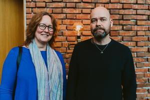 Åsa Norberg och Bengt Norberg på Plura i Västerås Konserthus. Bild: Martin Bohm