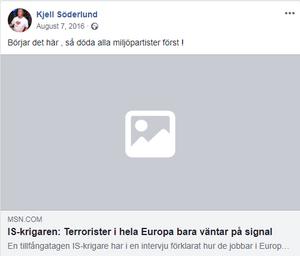 Skärmdump från Inte rasist men...