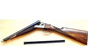 Hagelgeväret som polisen hittade hemma hos 54-åringen.Foto: Polisen
