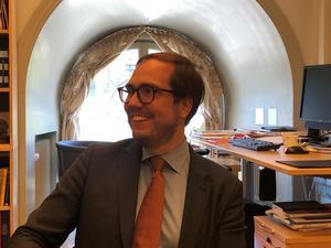 Magnus Nilsson, politisk sakkunnig på UD, träffade Söderhamnsinitiativet för ett kunskapsutbyte.