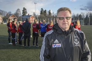Mikael Wikman, ordförande för Västanfors IF FK. Foto: Jörgen Hjerpe/Arkivbild
