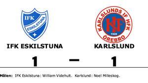 Halvtidsledning blev bara en poäng – när Karlslund gästade IFK Eskilstuna