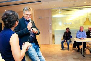 Som nytillträdd direktör för kultur-, idrotts- och fritidsförvaltningen besöker Anders Lerner VLT hösten 2014.Foto: Alexander Carlsson