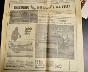 Så här såg det ut i en tidningsannons när företaget firade 50 år i Säter, 1964.