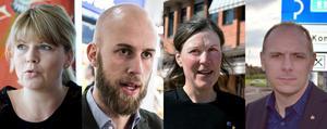 Sofia Jarl (C), Carl-Oskar Bohlin, Stina Munters (C) och Fredrik Jarl (C) är bara några av de politiker som har riktat oproportionerligt hård kritik mot Trafikverket. Foto: Montage