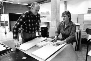 Sigvard Enqvist och Gunilla Esbjörnsson arbetade på ACB Laminat 1987.