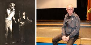 Snart står Kåke Eklund på scenen igen. På den 40 år gamla bilden som Abba-Agnetha med hustrun Gunilla på gitarr.