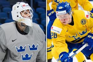 Olle Eriksson Ek och Fabian Zetterlund kan lånas ut från Färjestad till Timrå. Bild: Bildbyrån/Montage