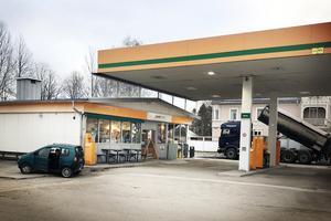 Preems bensinstation i Edsbyn.