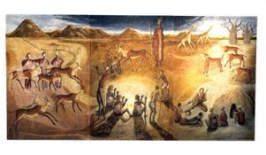 Åren i Afrika satte livslånga spår i Lisen Forslunds konst. Arkivbild: Britt Mattsson