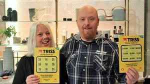 Annika Arntsen och Marthias Söderberg, sambopar från Västerås som vunnit 4,5 miljoner på Triss. Foto: Svenska Spel