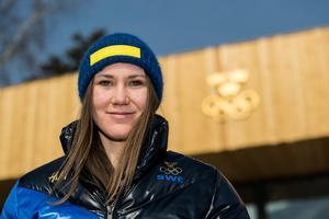 Estelle Alphand gör sig redo för OS-debut. Bild: Petter Arvidson/Bildbyrån