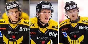 Sebastian Benker, Jonas Liwing och Alexander Lindelöf. FOTO: Bildbyrån.