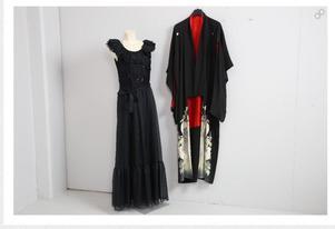 Aftonklänning och kimono. Foto: Effecta