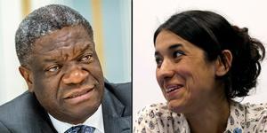 Denis Mukwege och Nadia Murad- (Arkivbilder: TT)
