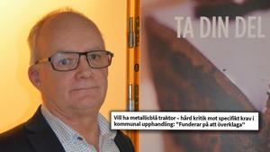 Upphandlingschefen Åke Westin agerade sedan han fått klart för sig hur kraven på traktorn som ska upphandlas såg ut. Foto: Lykke Bakker Östman.