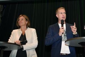 Miljöpartiet gick kraftigt bakåt, till våren avgår språkröret Gustav Fridolin. Foto: Maja Suslin / TT