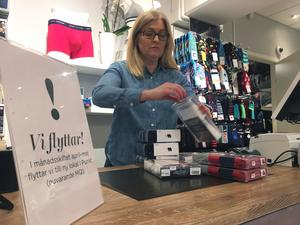 """Louise Koba är glad att hennes butik Kalsonkompaniet flyttar till Punkt senare i vår. """"Det har stor betydelse att få en bra mix, även om vi har en väl inarbetad kundkrets"""", säger hon."""