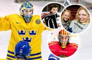 Sara Grahn – nu och då. I Sveriges, Örebros och Brynäs färger. Photo: Carl Sandin / BILDBYRÅN / Sporten.