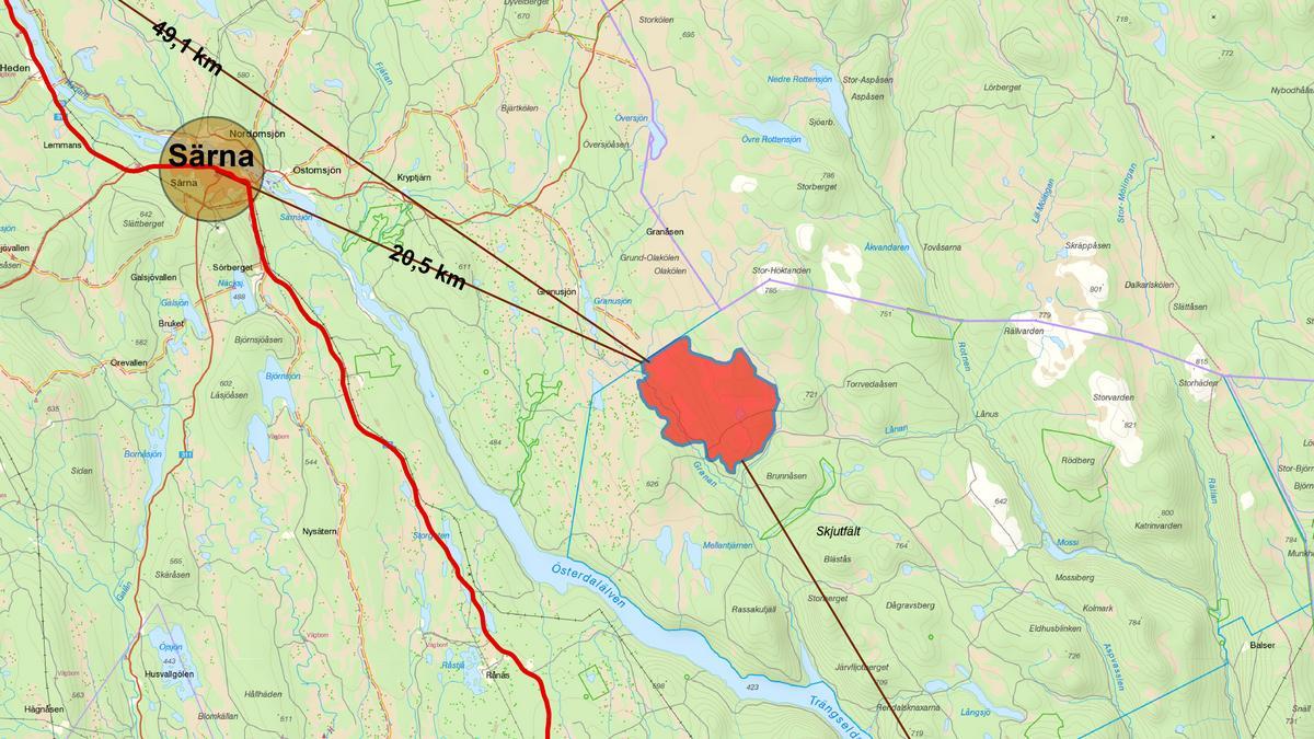 Karta Over Skogsbrander I Sverige.Kartor Over Brandomradet I Alvdalen Norra Och Nordvastra Delarna
